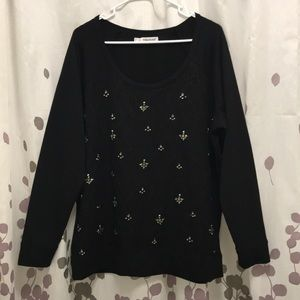 Maurice's sweater with lace detail